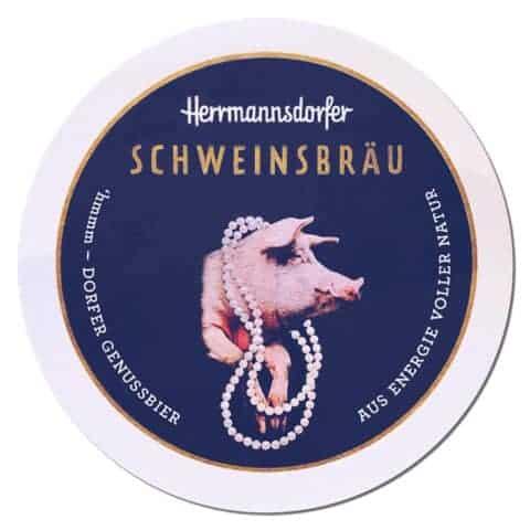 Hermannsdorfer Schweinsbrau Beer Mat