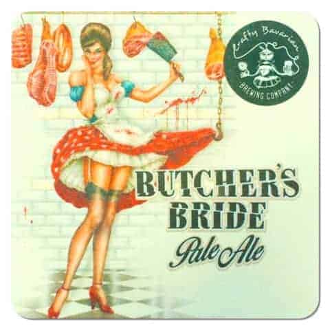 Crafty Bavarian Butchers Bride Coaster