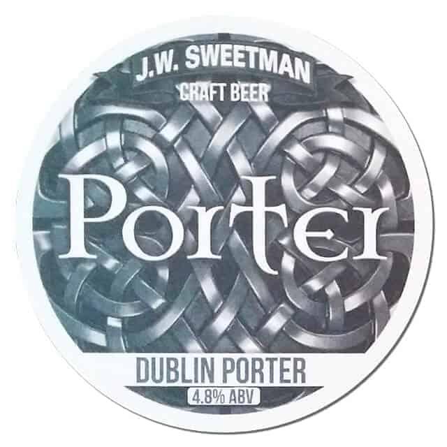 JW Sweetman Dublin Porter Beer Mat
