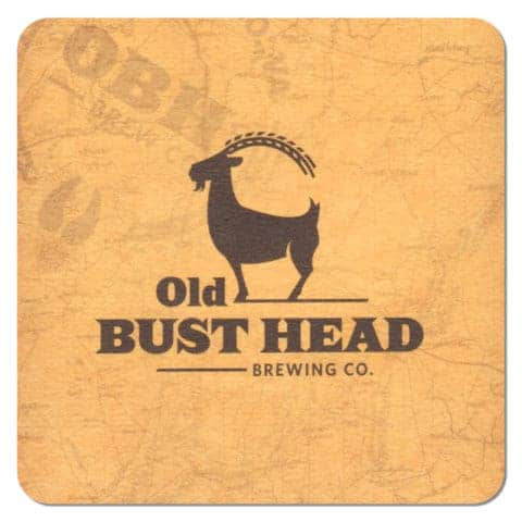 Old Bust Head Brewing Co Beer Mat