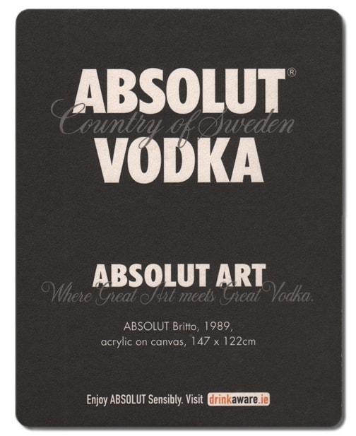 Absolut Vodka Drip Mat