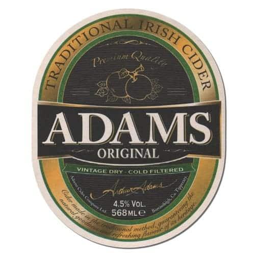 Adams Cider Coaster Front