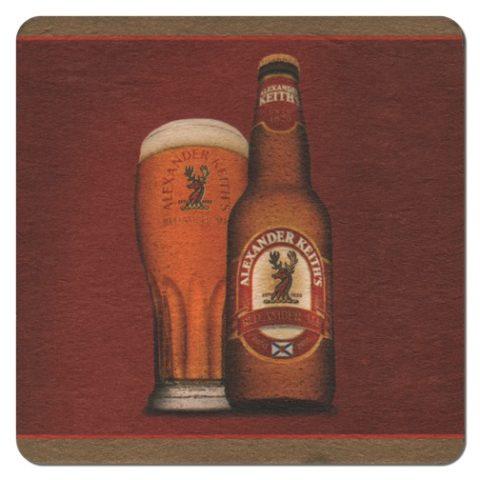Alexander Keiths Beer Mat Front
