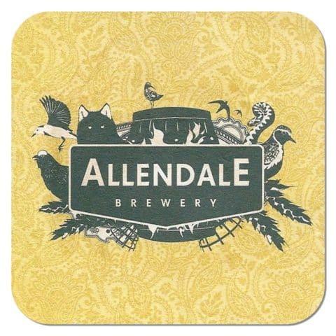 Allendale Brewery Beer Mat