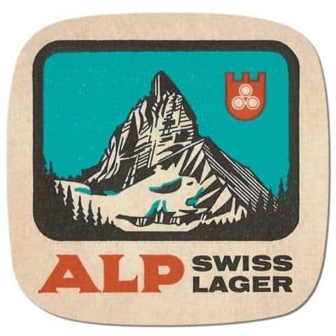 Alp Swiss Lager Beer Mat