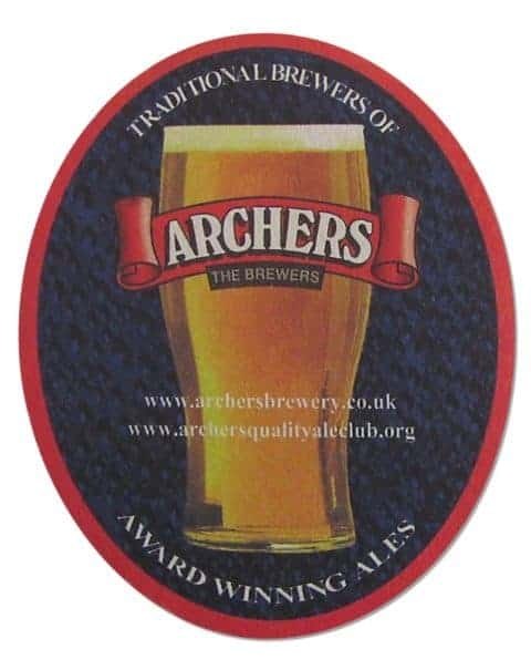 Archers the Brewery Beer Mat