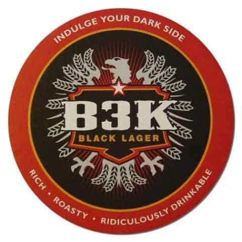 B3K Black Lager Beer Mat Front