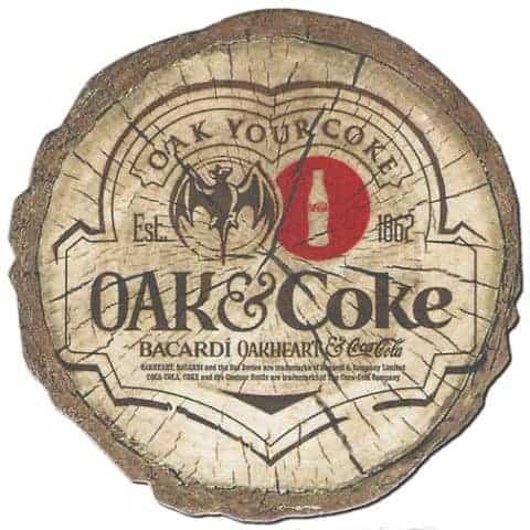 Bacardi Oakheart Coaster Front