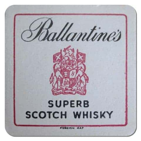 Ballantines Whisky Coaster