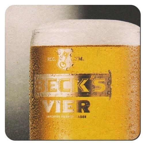 Becks Vier Beer Mat Front