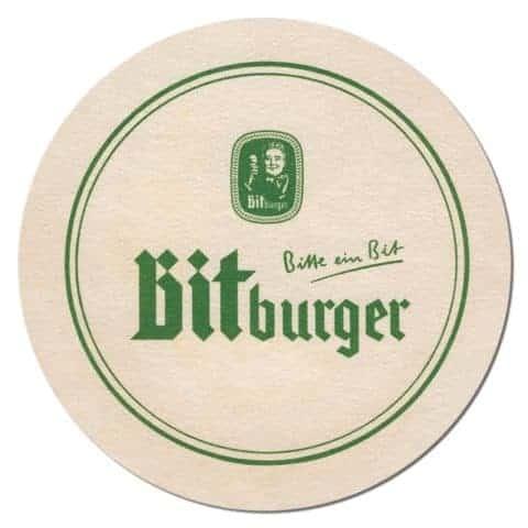 Bitburger Beer Mat