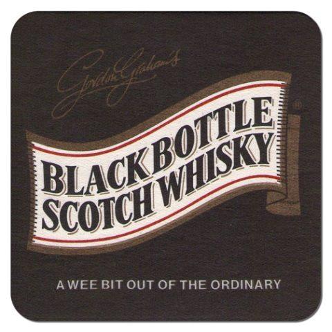 Black Bottle Scotch Coaster