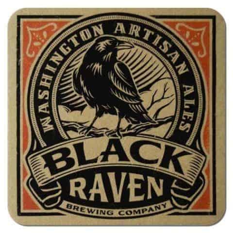 Black Raven Brewing Beer Mat Front
