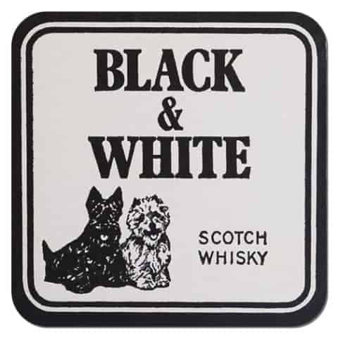 Black-and-White Scotch Whisky Coaster