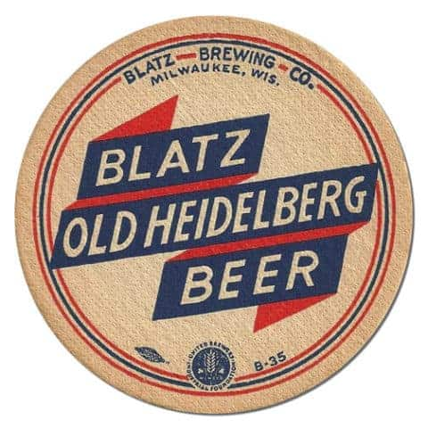 Blatz Brewing Beer Mat