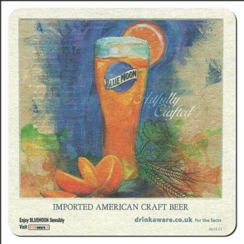 Blue Moon Brewing Beer Mat