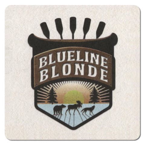 Blueline Blonde Beer Mat