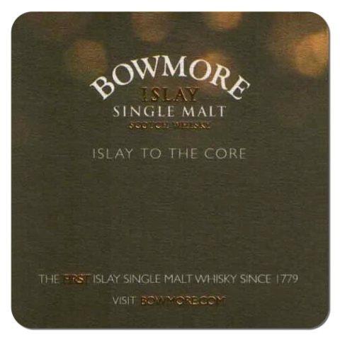 Bowmore Islay Single Malt Whisky Coaster Front