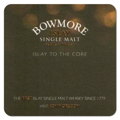 Bowmore Islay Single Malt Whisky Coaster Front