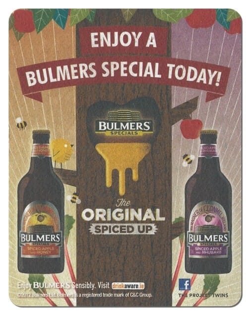 Bulmers Spiced Drip Mat Front