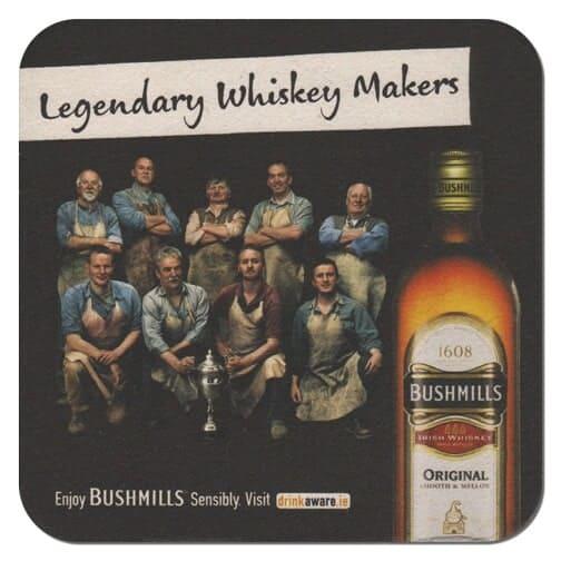 Bushmills Whiskey Coaster Front