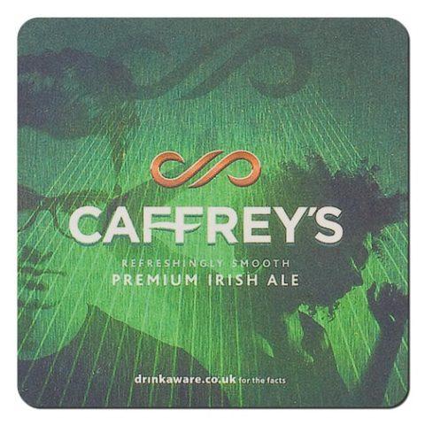 Caffrey's Irish Ale Beer Mat Front