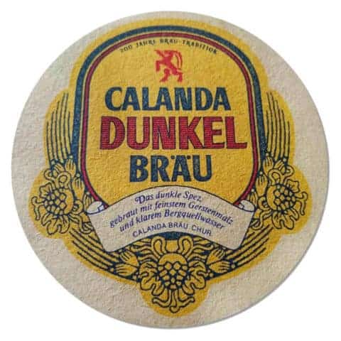 Calanda Dunkel Bräu Beer Mat