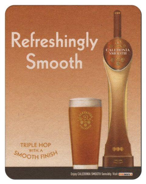 Caledonia Smooth Beer Mat Front