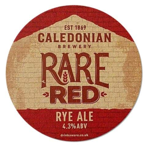 Caledonian Rare Red Beer Mat
