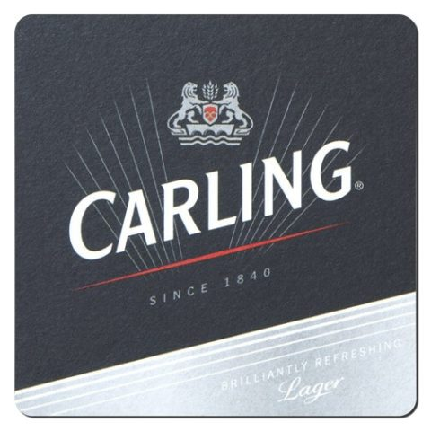 Carling Beer Mat Front
