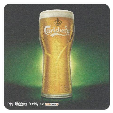 Carlsberg Beer Mat Front