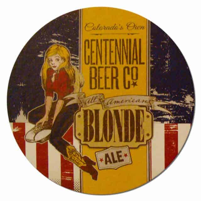 Centennial Beer Co - All American Blonde Ale Beer Mat