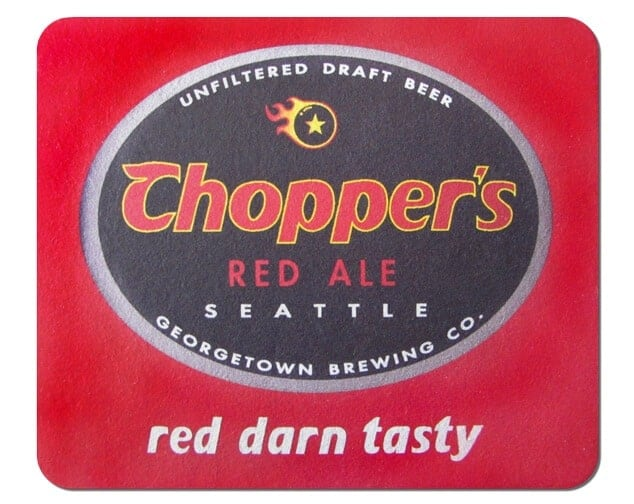 Choppers Red Ale Beer Mat