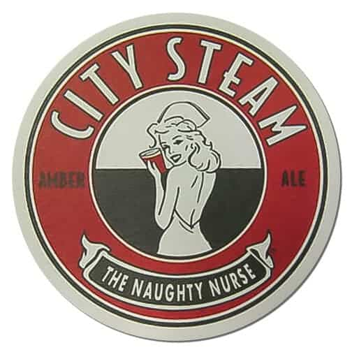 City Steam Naughty Nurse Beer Mat