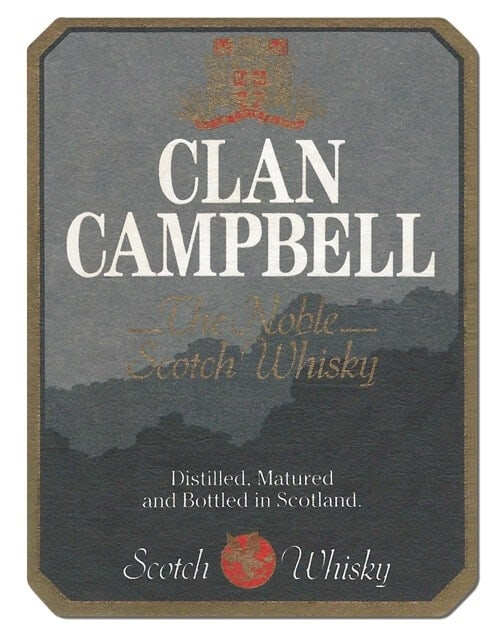 Clan Campbell Scotch Whisky Coaster