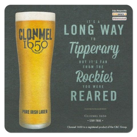 Clonmel 1650 Beer Mat Front