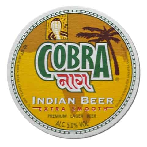 Cobra Indian Beer Drip Mat Front