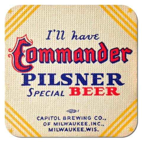 Commander Pilsner Beer Mat