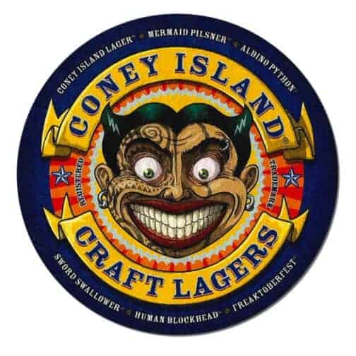 Coney Island Craft Lagers Beer Mat
