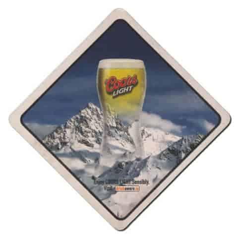 Coors Light Beer Mat Front