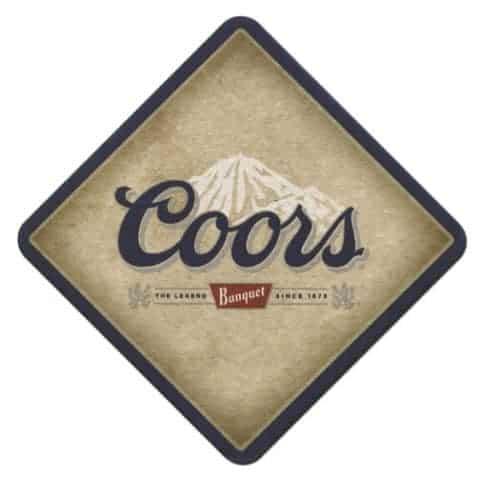 Coors Beer Mat Front