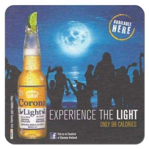 Corona Light Beer Mat
