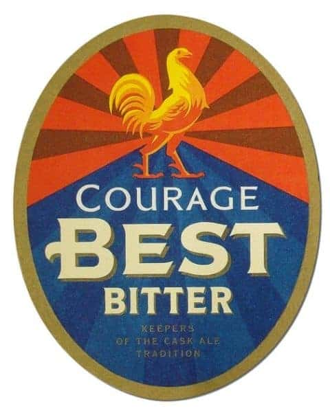 Courage Best Bitter Beer Mat