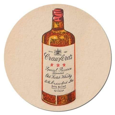 Crawfords Scotch Coaster