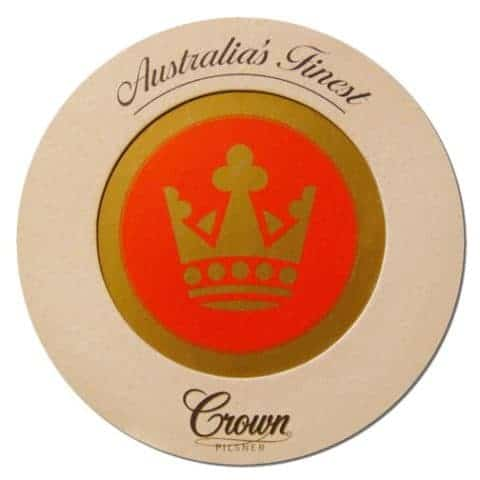 Crown Pilsner Beer Mat