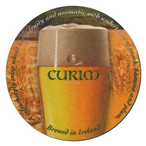 Curim Gold Beer Mat Front