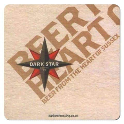 Dark Star Brewing Beer Mat
