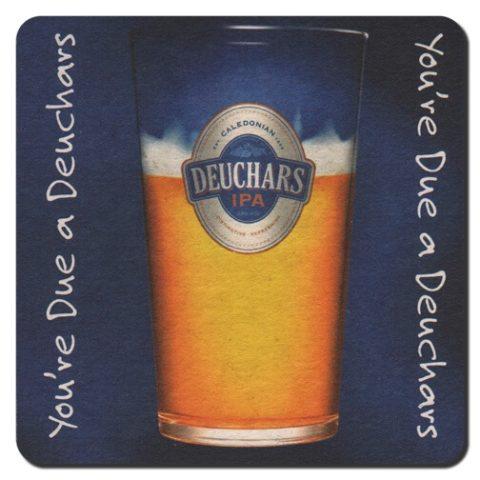 Deuchars IPA Beer Mat Front