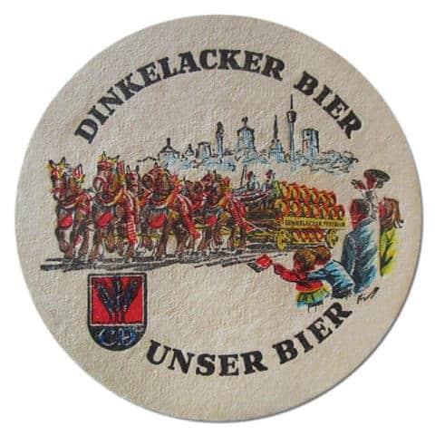 Dinkelacker Beer Mat