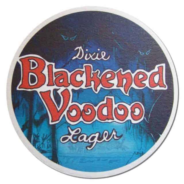 Dixie Blackened Voodoo Lager Beer Mat